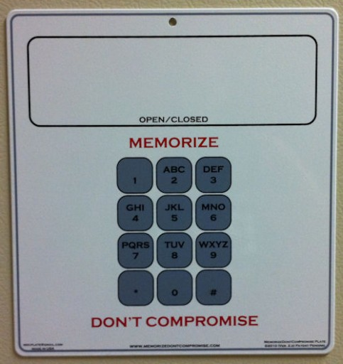 Memorize, Don't Compromise plate