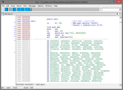Nonsensical bytes in miXer.elf